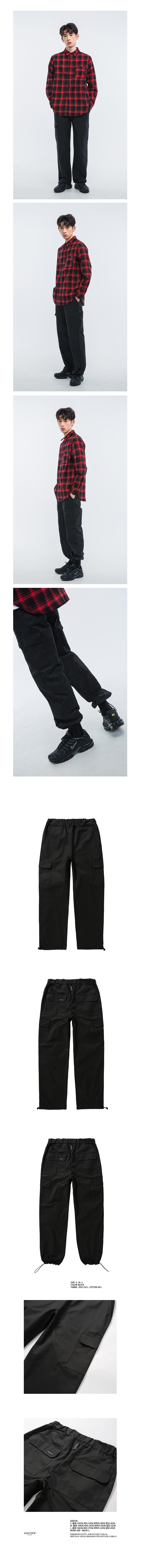 올라온 - Pocket Pants - Black