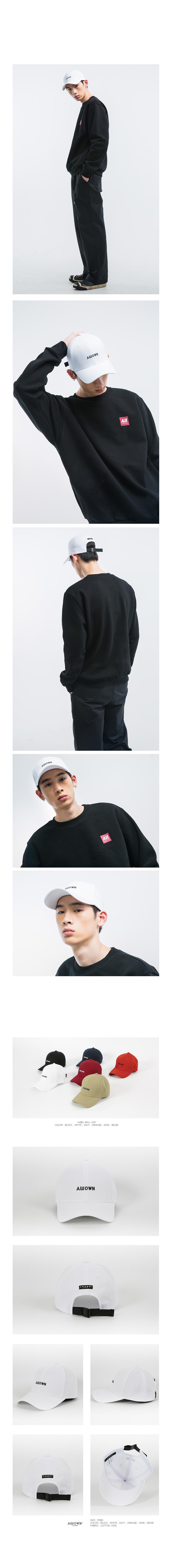 올라온 - Labelballcap - White